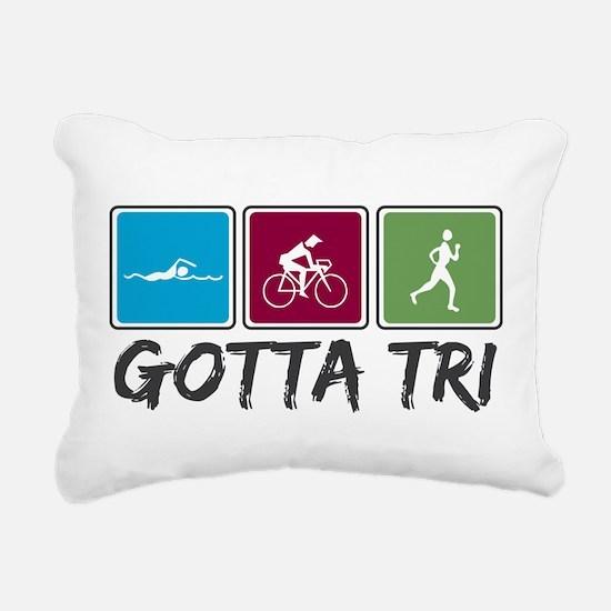 Gotta Tri (Triathlon) Rectangular Canvas Pillow