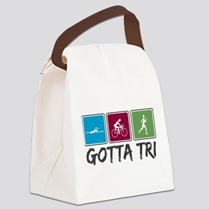Gotta Tri (Triathlon) Canvas Lunch Bag