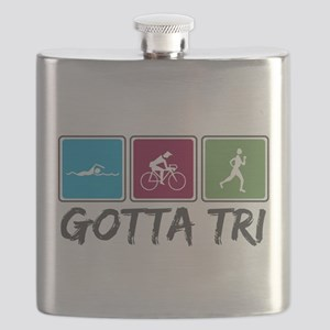 Gotta Tri (Triathlon) Flask