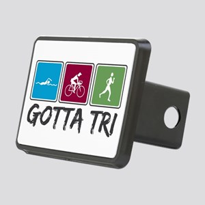 Gotta Tri (Triathlon) Rectangular Hitch Cover