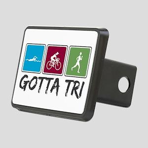 Gotta Tri (Triathlon) Rectangular Hitch Cover