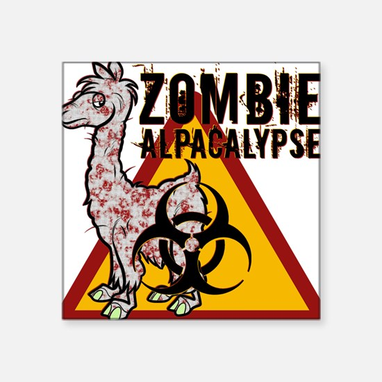 "Zombie Alpacalypse Square Sticker 3"" x 3"""