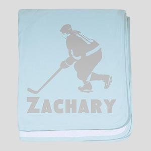 Personalized Hockey baby blanket