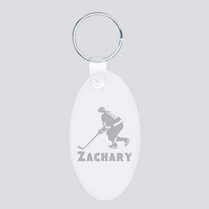Personalized Hockey Aluminum Oval Keychain