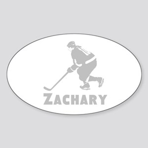 Personalized Hockey Sticker (Oval)