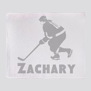 Personalized Hockey Throw Blanket