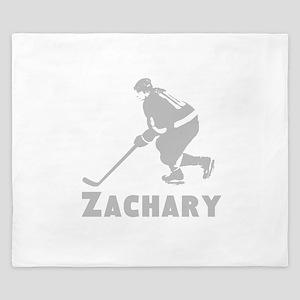 Personalized Hockey King Duvet