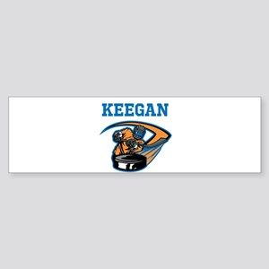Personalized Hockey Sticker (Bumper)