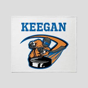 Personalized Hockey Throw Blanket