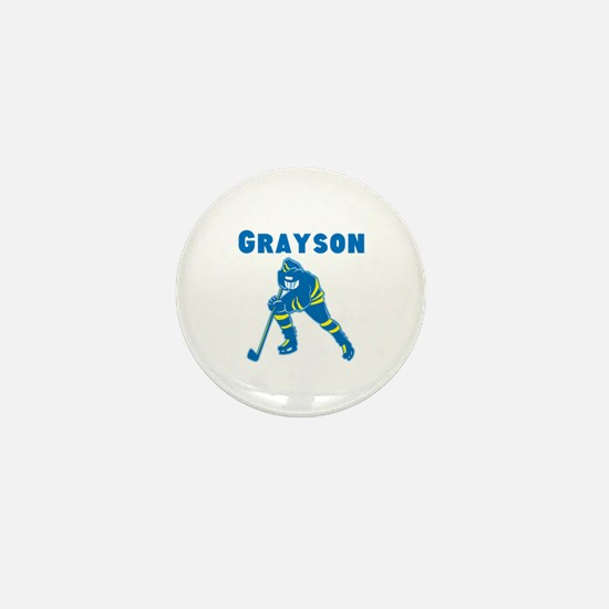 Personalized Hockey Mini Button
