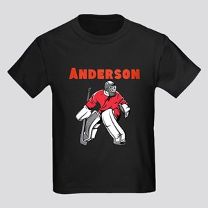 Personalized Hockey Kids Dark T-Shirt