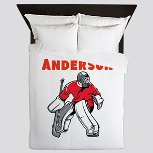 Personalized Hockey Queen Duvet