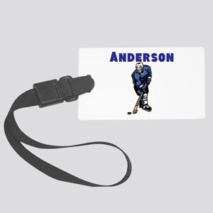 Personalized Hockey Large Luggage Tag