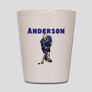 Personalized Hockey Shot Glass
