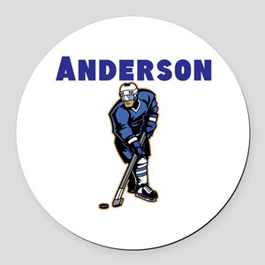 Personalized Hockey Round Car Magnet