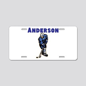 Personalized Hockey Aluminum License Plate