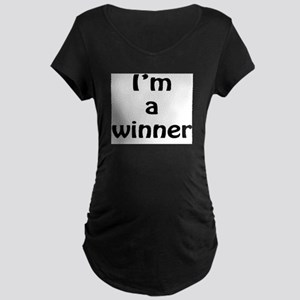 I'm a winner Maternity Dark T-Shirt