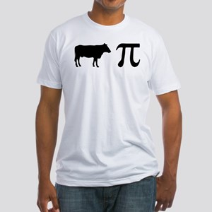 Cow Pi (pie) Fitted T-Shirt