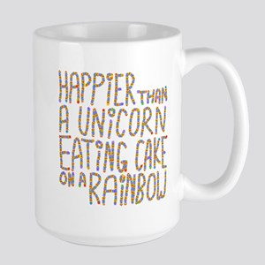 Happier Than A Unicorn... Large Mug