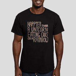 Happier Than A Unicorn... Men's Fitted T-Shirt (da