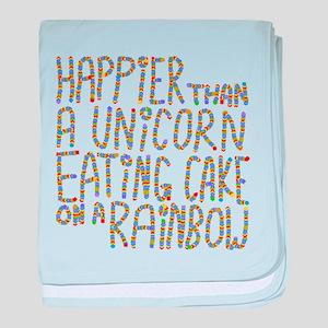 Happier Than A Unicorn... baby blanket
