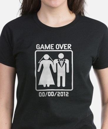 Game Over (add wedding date) Women's Dark T-Shirt