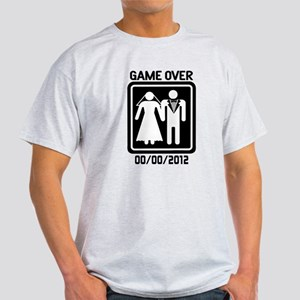 Game Over (add wedding date) Light T-Shirt