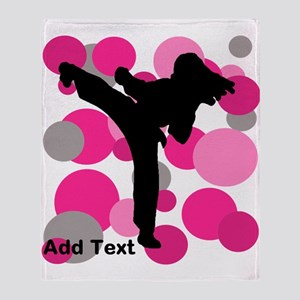 Martial Arts Ladies Throw Blanket
