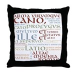 Arma Virumque Cano Ancient Colors Throw Pillow