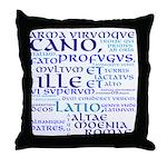 Arma Virumque Cano BlueThrow Pillow