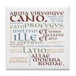 Arma Virumque Cano Ancient Colors Tile Coaster