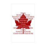 Canada Anthem Souvenir Sticker (Rectangle 10 pk)
