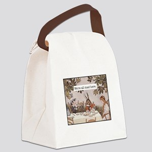 Alice All Mad Here Canvas Lunch Bag