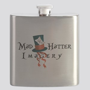 Mad Hatter Imagery Flask