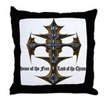 Biker Home of the Free Throw Pillow