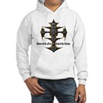 Biker Home of the Free Hooded Sweatshirt