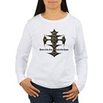 Biker Home of the Free Women's Long Sleeve T-Shirt