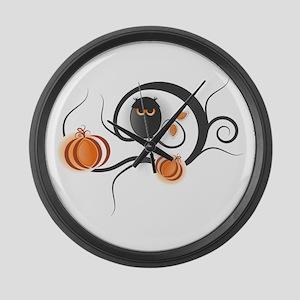 Whimsical Halloween Large Wall Clock
