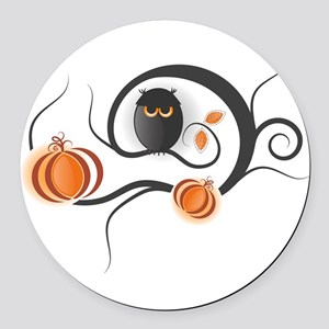Whimsical Halloween Round Car Magnet
