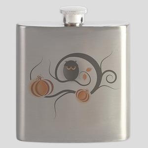 Whimsical Halloween Flask