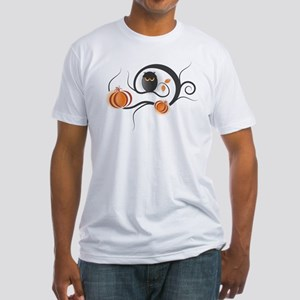 Whimsical Halloween Fitted T-Shirt