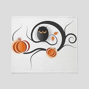 Whimsical Halloween Throw Blanket