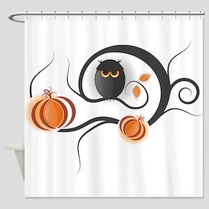 Whimsical Halloween Shower Curtain