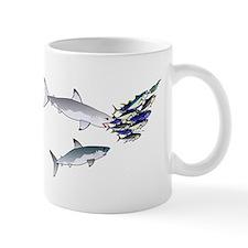 Two White Sharks ambush Tuna Mug