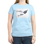 Two White Sharks ambush Tuna Women's Light T-Shirt