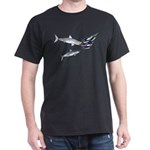 Two White Sharks ambush Tuna Dark T-Shirt