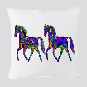 TWO STEPPERS Woven Throw Pillow