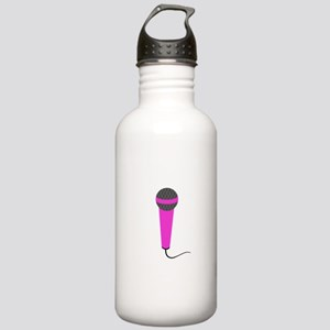 Hot Pink Microphone Stainless Water Bottle 1.0L