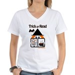 Trick or READ Women's V-Neck T-Shirt