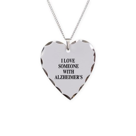 Alzheimer's Heart CHarm Necklace